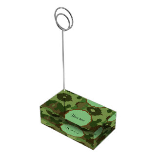 Camouflage Table Number Holder