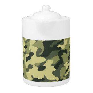 camouflage tea pot
