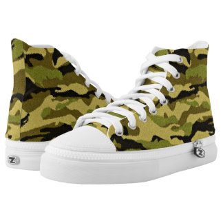 Camouflage Trainers High Top Skating Shoes