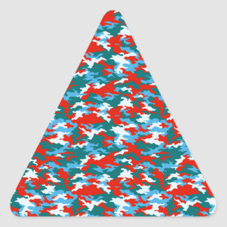 Camouflage Triangle Sticker