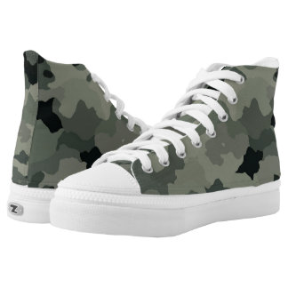 Camouflage Unisex High Top Zipz Shoes