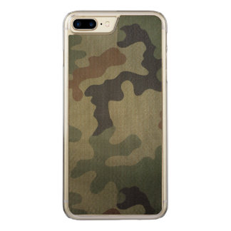Camouflage Vintage Style Pattern Carved iPhone 8 Plus/7 Plus Case