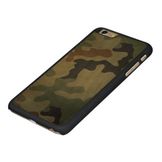 Camouflage Vintage Style Pattern Carved Maple iPhone 6 Plus Case