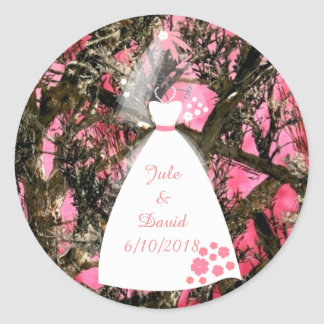 Camouflage Wedding Sticker