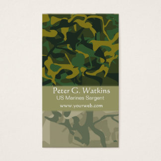 Camouflage  Wilderness Environtmentalist Green Business Card