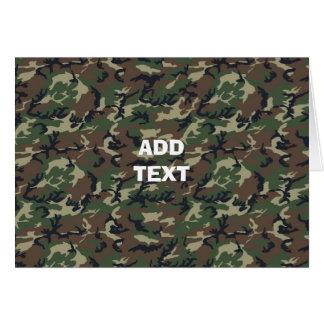 Camouflage Woodland Cards
