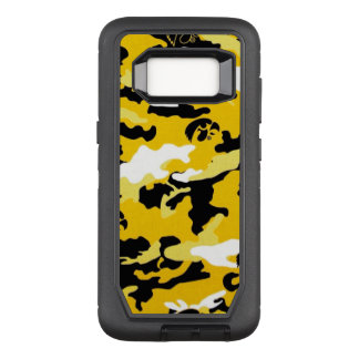 Camouflage Yellow Black Como Army Military Print OtterBox Defender Samsung Galaxy S8 Case