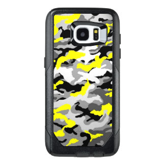 Camouflage Yellow Black Como Army Military Print OtterBox Samsung Galaxy S7 Edge Case