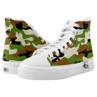 camouflage Zipz High Top Shoes Printed Shoes