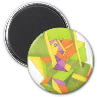 Camouflaged 6 Cm Round Magnet
