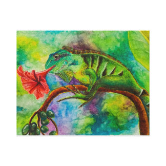 Camouflaged Iguana Canvas Print