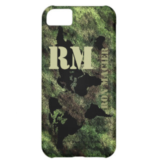 camouflaged military world map name iPhone 5C case