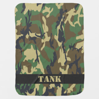 Camouflaged Pattern Personalized Buggy Blanket