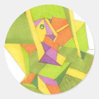 Camouflaged Round Sticker