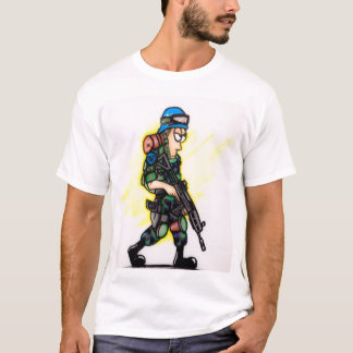 Camouflaged soldier T-Shirt