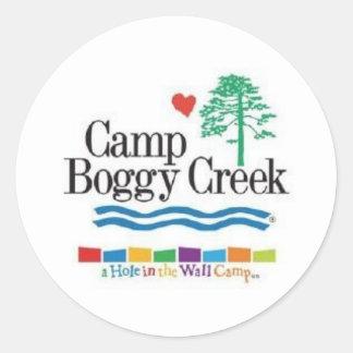 Camp Boggy Creek Round Sticker