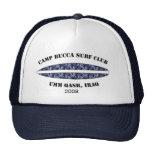 Camp Bucca Baseball cap - blue camo surf club logo Mesh Hats