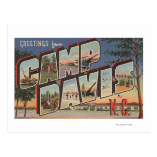 Camp Davis, North Carolina - Large Letter Scenes Postcard