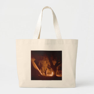 Camp Fire No. 2 Large Tote Bag