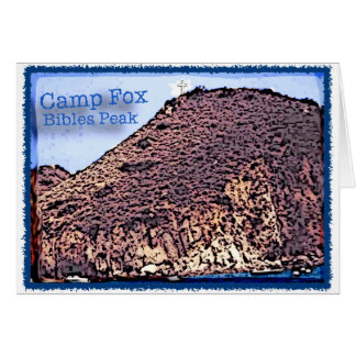 Camp Fox: Bibles Peak Altered Photo Card