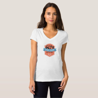 Camp GinJam V-Neck Ladies Tee