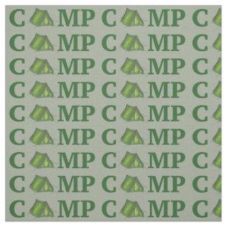 CAMP Green Pitch a Tent Summer Camping Camper Fabric