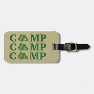 CAMP Green Tent Summer Camping Hiking Bag Tag
