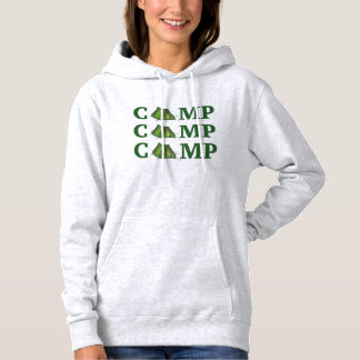CAMP Green Tent Summer Camping Hiking Sweatshirt