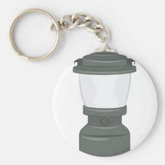 Camp Lantern Basic Round Button Key Ring