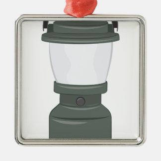 Camp Lantern Silver-Colored Square Decoration