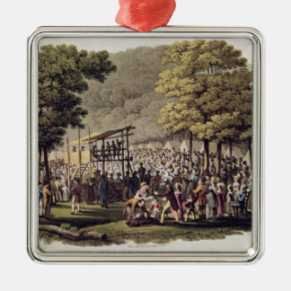 Camp Meeting of the Methodists in North Metal Ornament