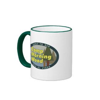 Camp Morning Wood drinkware Ringer Mug