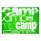 Camp; Neon Green Stripes Card