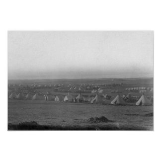 Camp of the 7th Cavalry at Pine Ridge Print