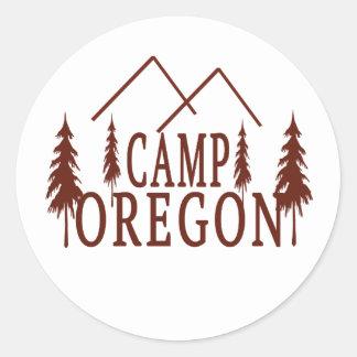 Camp Oregon Classic Round Sticker