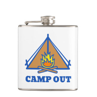 Camp out hip flask