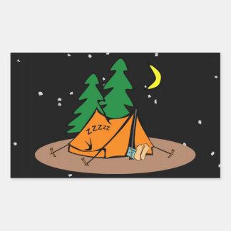 Camp Snore ~ Black & Starlike Background Rectangular Sticker
