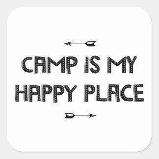 Camp Square Sticker