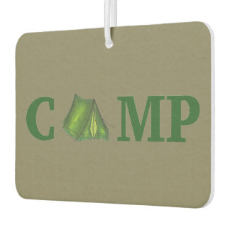 CAMP Summer Camping Green Tent Outdoors Camper Car Air Freshener