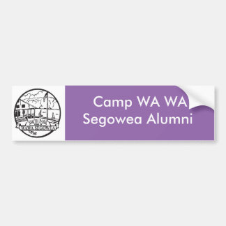 Camp WA WA Segowea Bumper sticker! Bumper Sticker