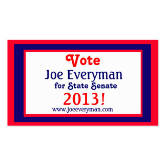 Campaign Candidate 2013 Calendar Wallet Card Std Pack Of Standard Business Cards