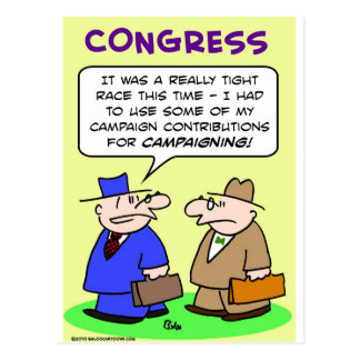 campaign contributions tight race post card