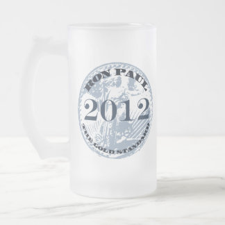 CAMPAIGN FOR LIBERTY 16 OZ FROSTED GLASS BEER MUG