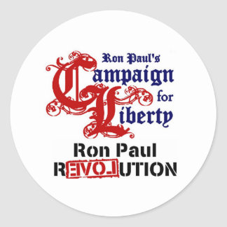 Campaign For Liberty Ron Paul Round Sticker