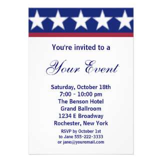 Campaign Party Invitation or 4th of July Party