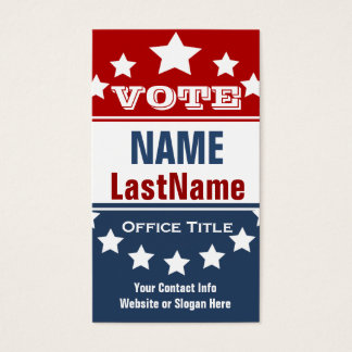 Campaign Political Template Business Card