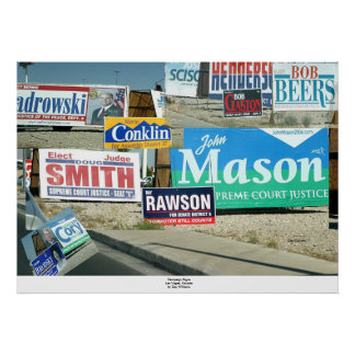 Campaign Signs, Las Vegas Poster