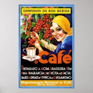Campanha Da Boa Bebida Coffee Vintage Ad Poster