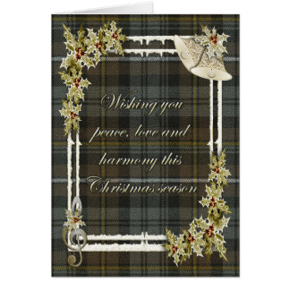 Campbell Argyle Weathered Tartan Christmas Card