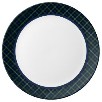 Campbell Clan Navy Blue Scottish Tartan Plate
